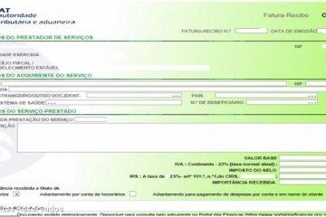 Declaração trimestral dos recibos verdes
